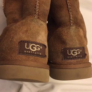 Girls UGG Leather Sheepskin Boots Size 5 5W
